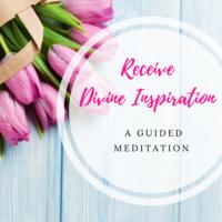 receive divine inspiration meditation image
