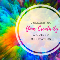unleashing your creativity meditation graphic